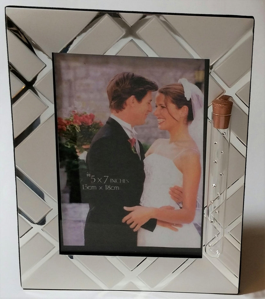 Jewish Wedding Picture Frame - Holds Shards From Wedding Ceremony - Holds 5x7 Picture