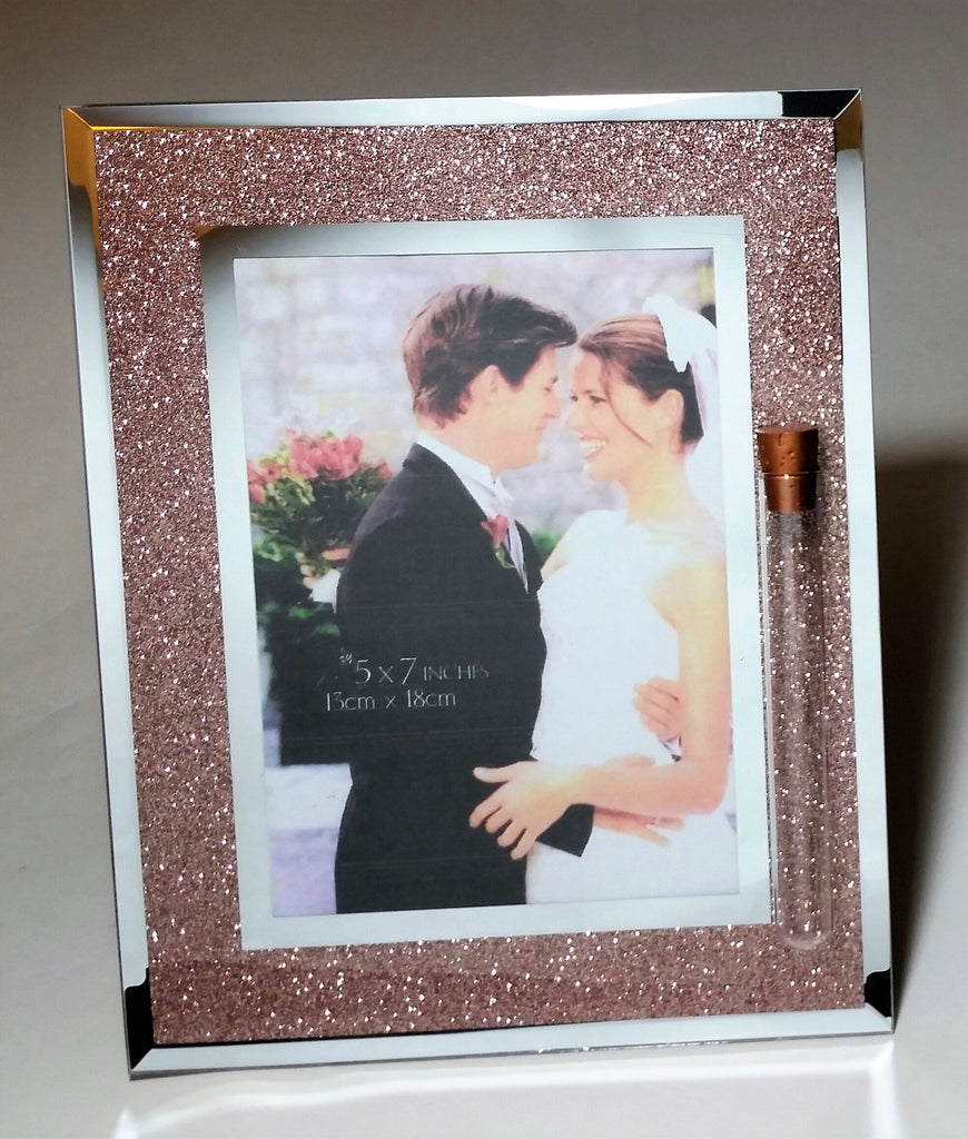 Jewish Wedding Picture Frame - Jewish Wedding Picture Frame - Chuppah - Holds Shards from Wedding Ceremony - Shardz