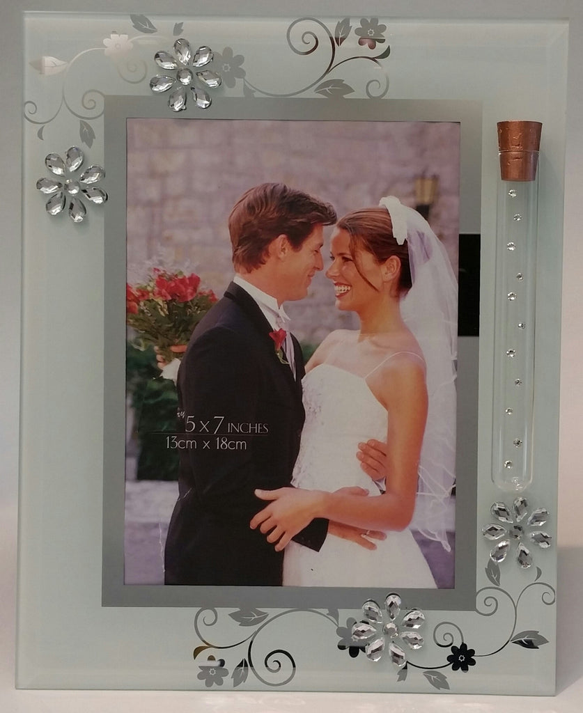 Jewish Wedding Picture Frame - Holds Shards From Ceremony - Holds 5x7 inch Picture - Jewish Engagement