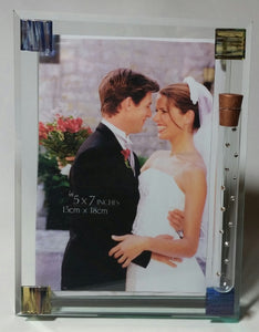 Glass Jewish Wedding Picture Frame - Holds Shards From Wedding Ceremony - Jewish Wedding Gift - Jewish Engagement Gift
