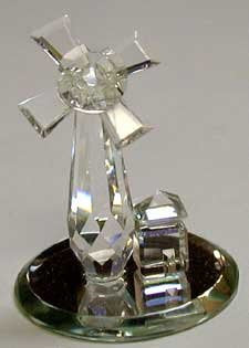 Crystal Windmill Handcrafted By The Artisans At BJcrystalgifts Using Swarovski Crystal
