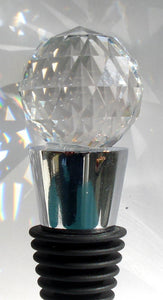Crystal Wine Stopper - Stainless Steel Wine Stopper Handcrafted By Bjcrystalgifts With Swarovski Crystal