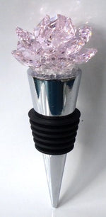 Load image into Gallery viewer, Pink Crystal Rose Wine Stopper