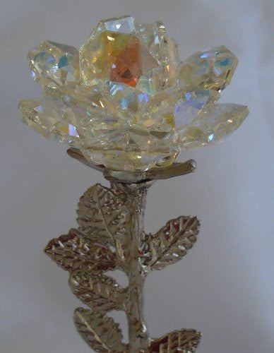 Arora Borealis Crystal Rose - Crystal Personalize Crystal Rose Made with Swarovski Crystals