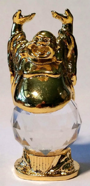 Buddha Crystal Figurine Handcrafted By the Artisans At Bjcrystal Gifts Using Swarovski Crystal