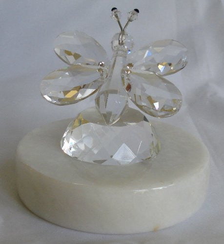 Butterfly Crystal Made with Swarovski Crystal on a Marble Base