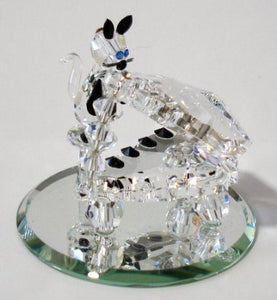 Crystal Cat Playing The Piano - Crystal Cat Miniature
