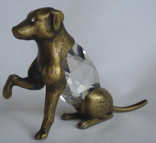 Dog Figurine Made Handcrafted By Bjcrystalgifts Using Swarovski Crystal