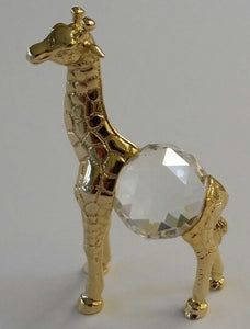 Crystal Giraffe Figurine Handcrafted By Bjcrystalgifts Using Swarovski Crystal