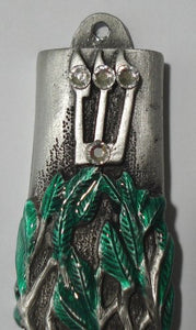 Jewish Wedding Mezuzah with Tree of Life and Decorated with Swarovski Crystals - Comes With Kosher Scroll