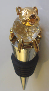 Pig Wine Stopper By Bjcrystalgifts Made with Swarovski Crystal - Piglet Bottle Stopper