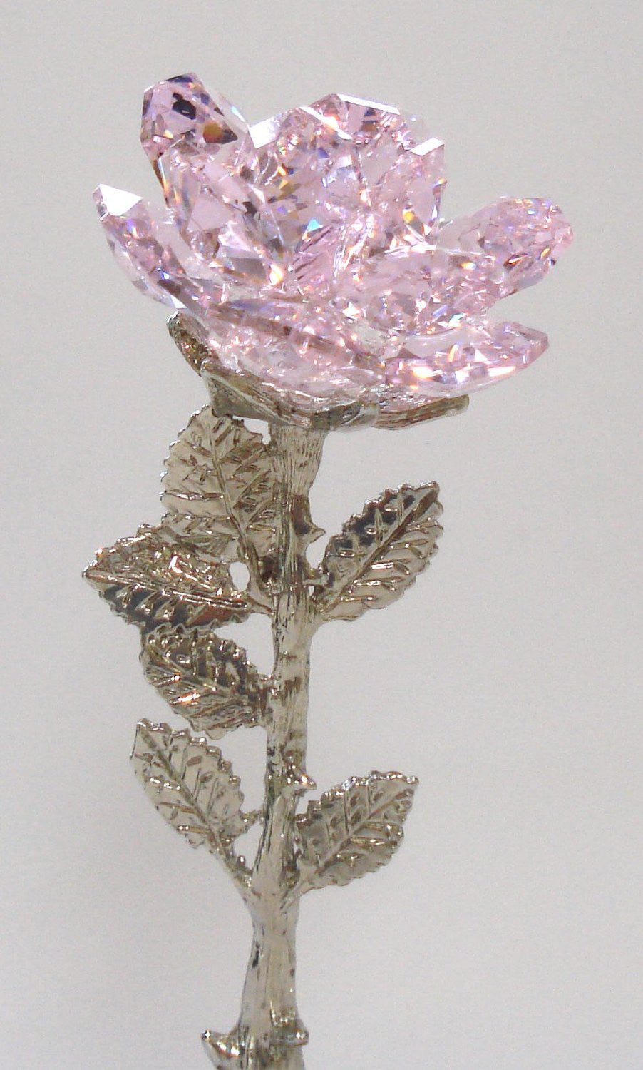 Pink Crystal Rose for Mother - Mother's Day Gift - By Bjcrystalgifts Using Swarovski Crystal