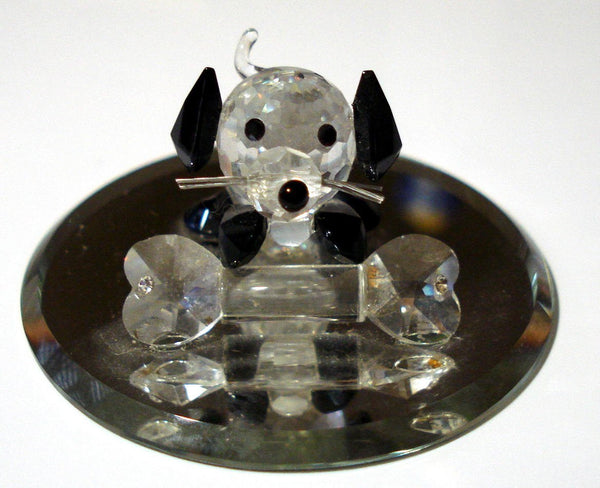 Crystal Dog with Bone
