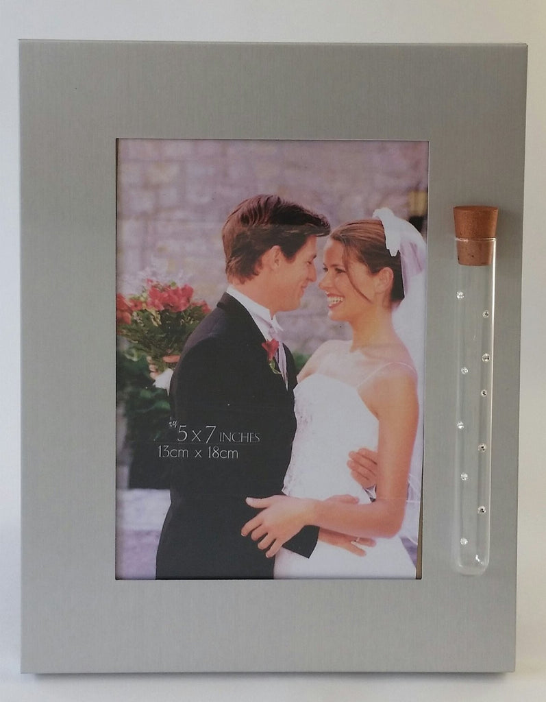 Jewish Wedding Picture Frame - Frame Holds Glass Shards From Wedding Ceremony