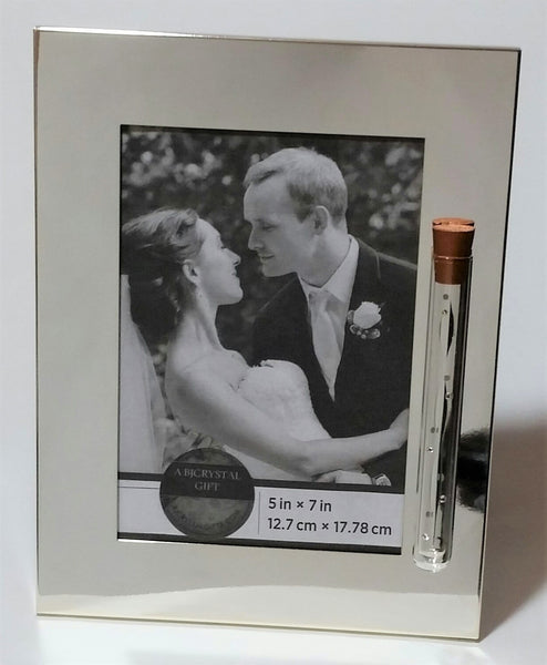 Jewish Wedding Picture Frame - Jewish Engagement Gift - Chuppah - Silver Plated Reflective