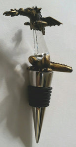 Dragon Wine Stopper - Crystal Wine Stopper Handcrafted Using Swarovski Crystal