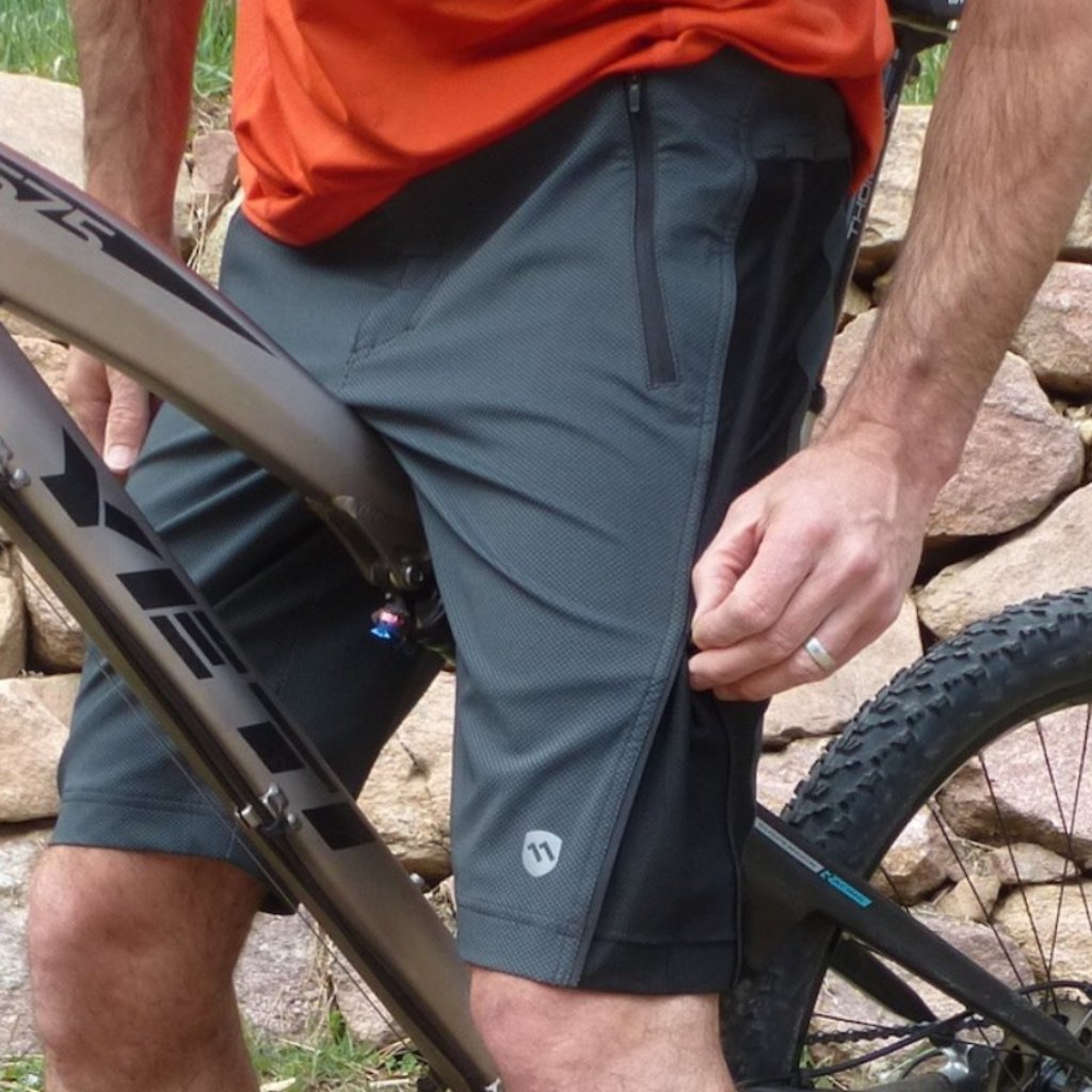 elevenpine men's crank it up mountain bike shorts zipping