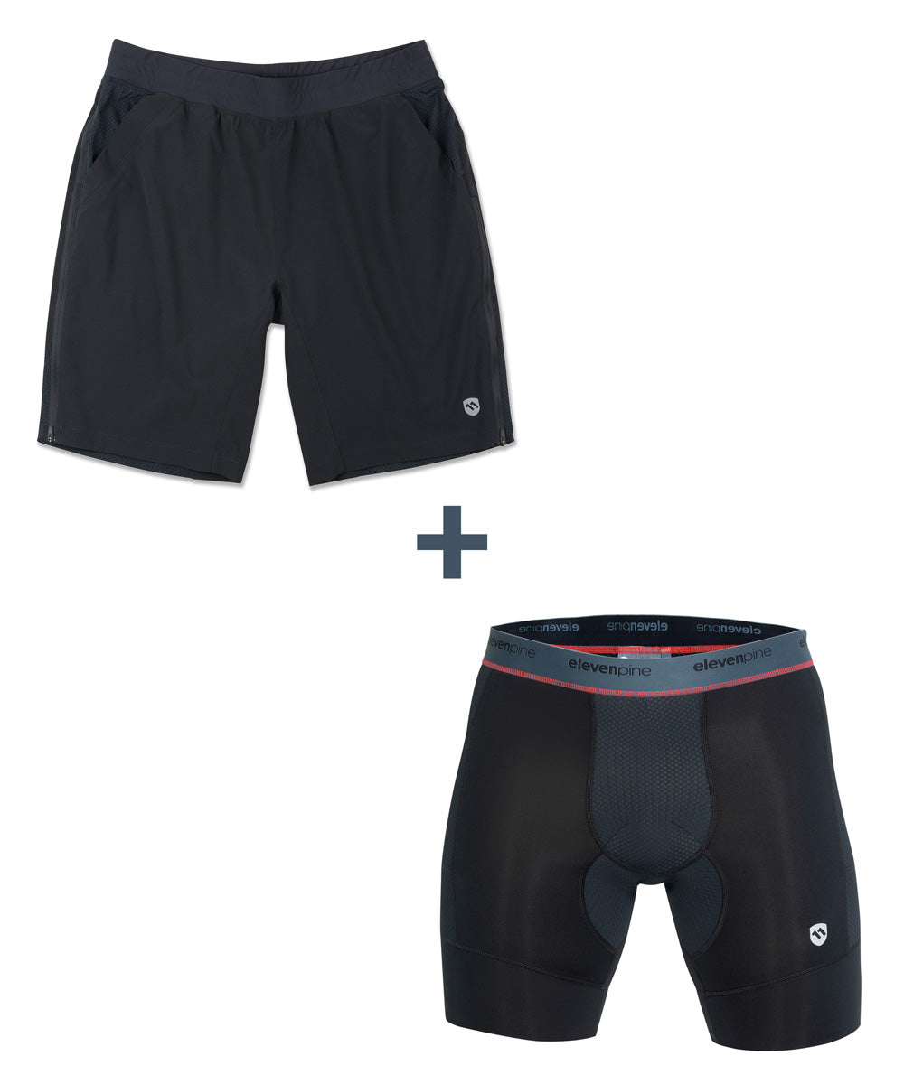 COMBO DEAL: Men's Session Shorts & MultiSport Boxer Brief-ELEVENPINE