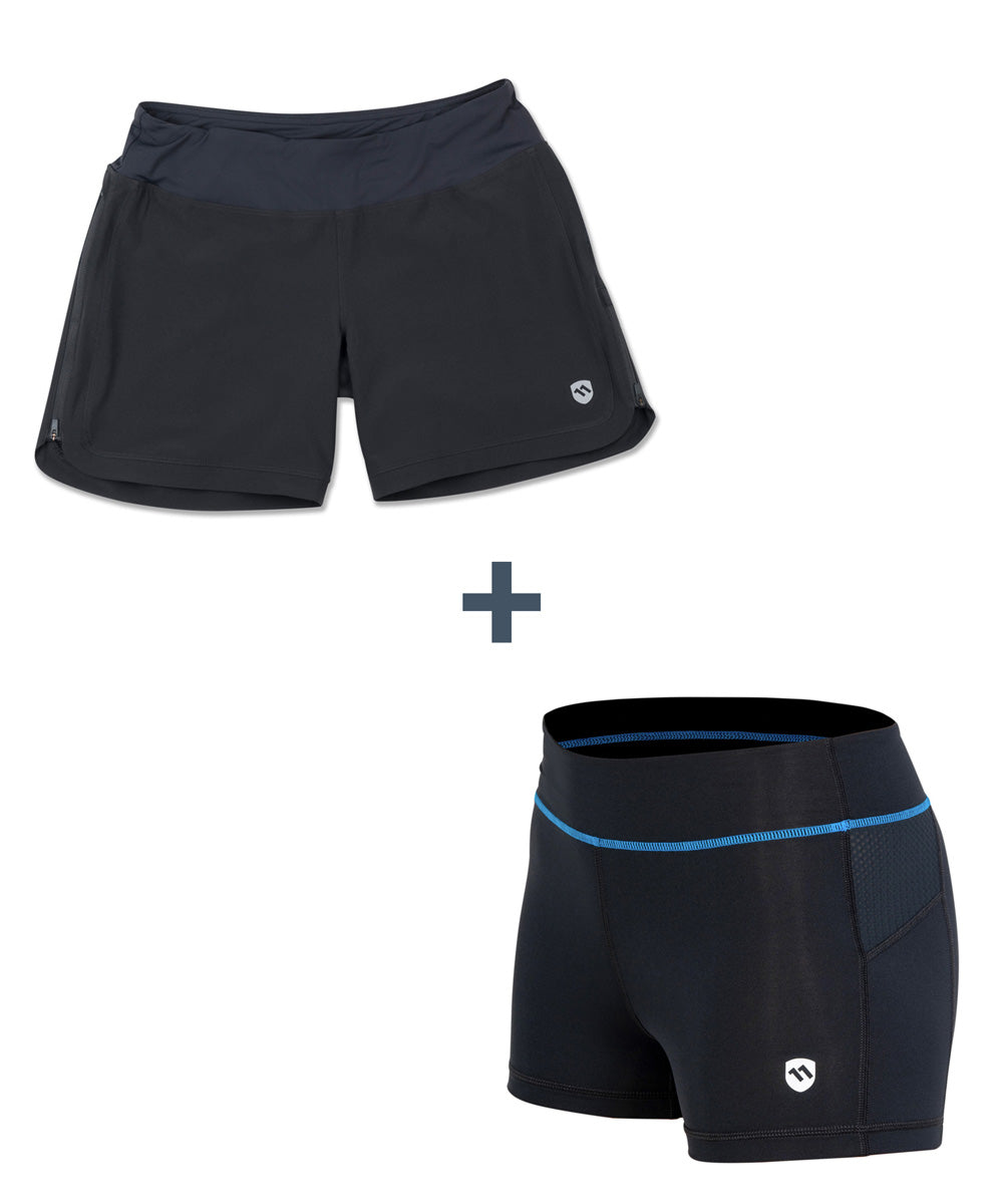 Combo Deal: Women's Circuit Shorts and MultiSport Brief-ELEVENPINE