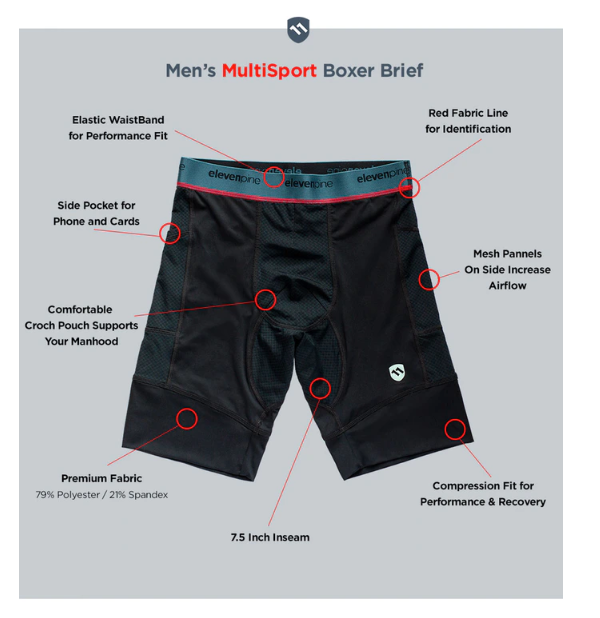 ElevenPine Men's Multisport Liner Features