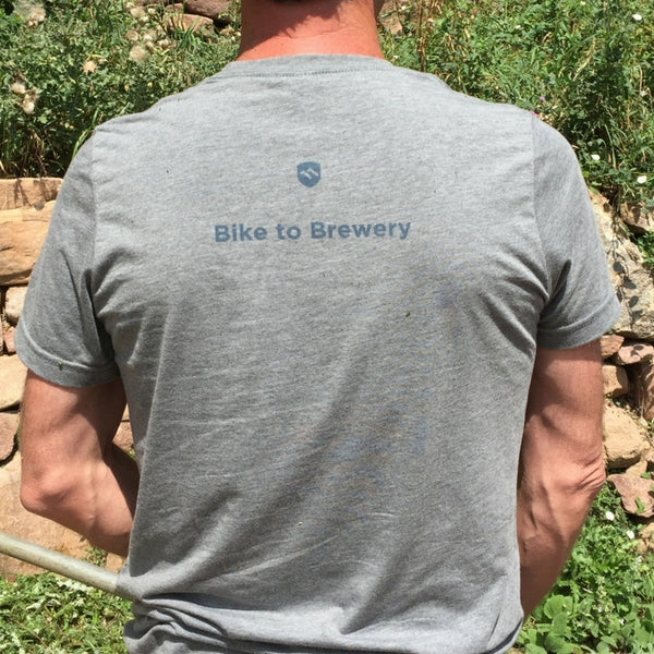 Bike to Brewery Men's T-shirt-Shirts-ELEVENPINE