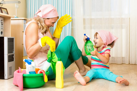 spring cleaning kids tips how to