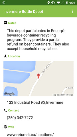 BC Recyclepedia app kelowna recycling