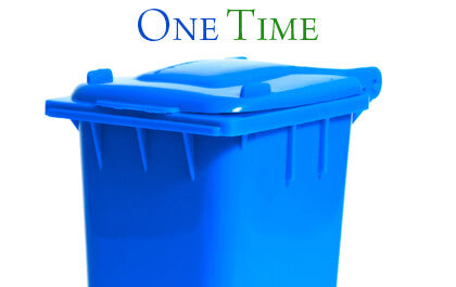 one time cleaning yard waste bin