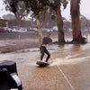 Extreme Puddle Surfing On A Fling