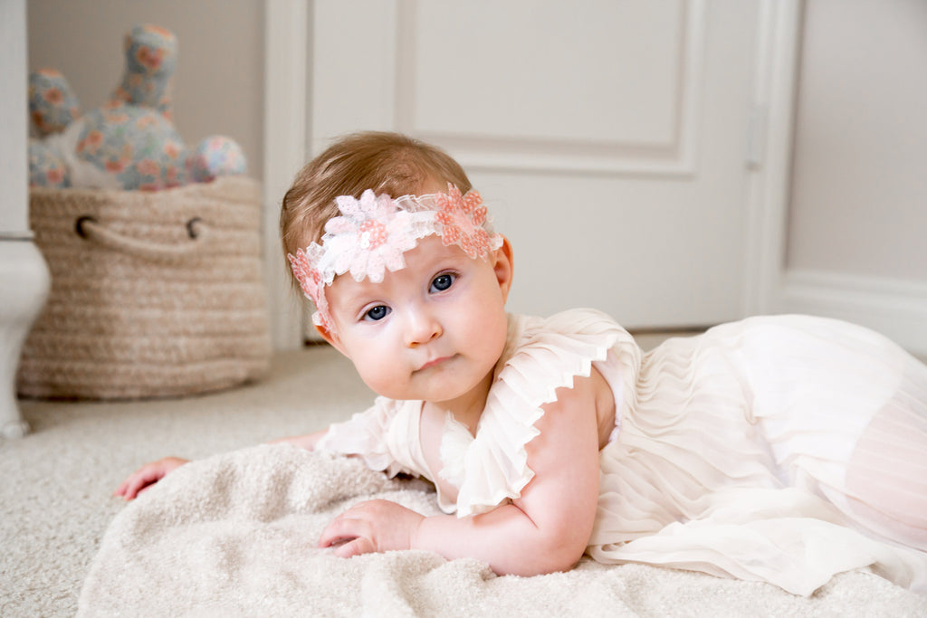 Daisy - Embroidered Flower Girl Headband