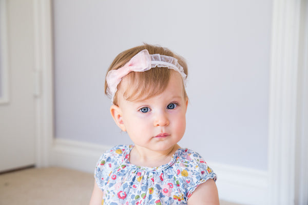 Lily - Double Organza Bow Headband