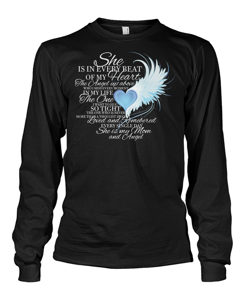 For my MOM in heaven Unisex Long Sleeve