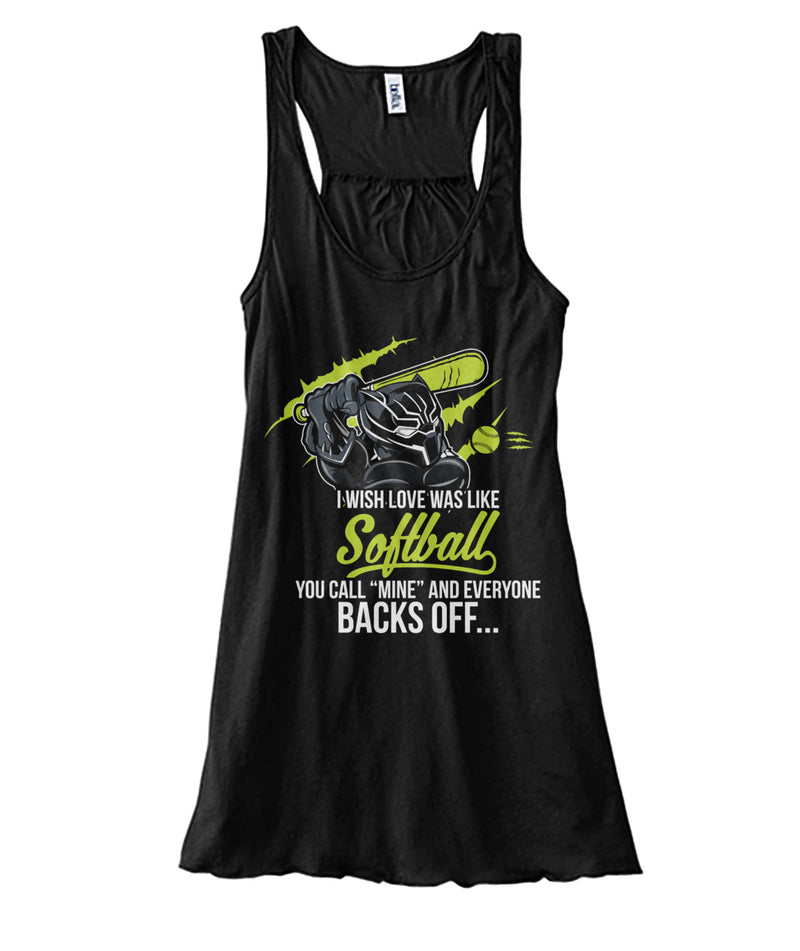 I wish love was like Softball Women's Flowy Tank