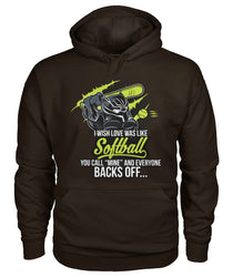 I wish love was like Softball Gildan Hoodie