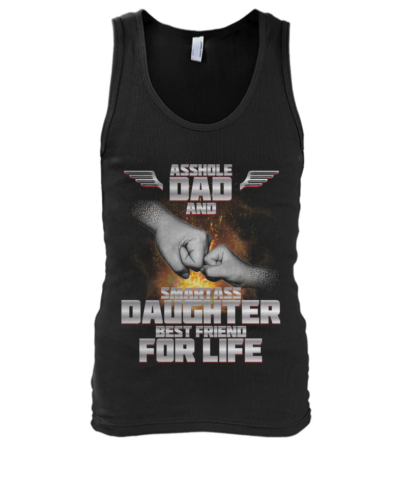 Asshole Dad and Smartass Daughter Men's Tank Top
