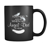 Angel Dad, Black 11oz Mug