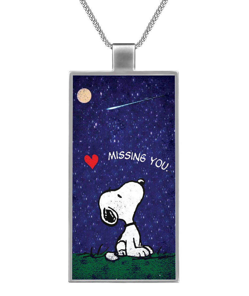 Missing you... Rectangle Necklace