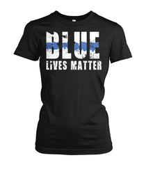 Blue Lives Matter Women's Crew Tee