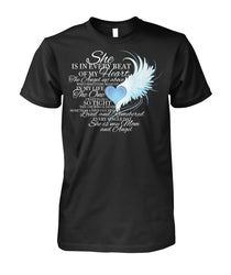 For my MOM in heaven Unisex Cotton Tee