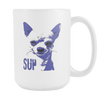 I Love Chihuahuas., White 15oz Mug