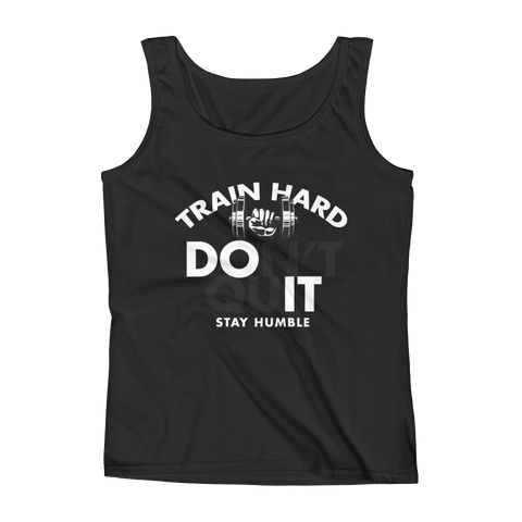 Train Hard, DO IT, Ladies' Tank