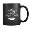 Angel Daddy, Black 11oz Mug