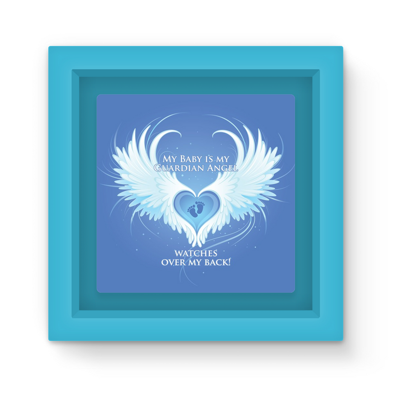 My Baby Is My Guardian Angel Watches Over My Back Magnet Frame