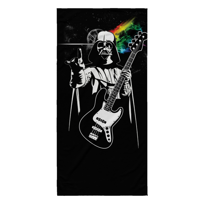 Funny Pink Floyd Darth Vader The Dark Side of the Death Star., Beach Towel