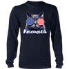 Ameowica the Great - Funny patriotic.,  District Long Sleeve Shirt