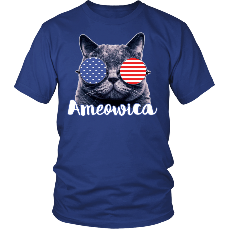 Ameowica the Great - Funny patriotic., District Unisex Shirt