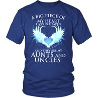 Aunts and Uncles, A big piece of my heart lives in heaven., District Unisex Shirt