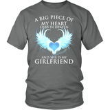 Girlfriend, A big piece of my heart lives in heaven., District Unisex Shirt