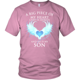 Son, A big piece of my heart lives in heaven - District Unisex Shirt