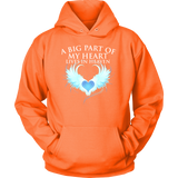 A big part of my heart lives in Heaven., Unisex Hoodie